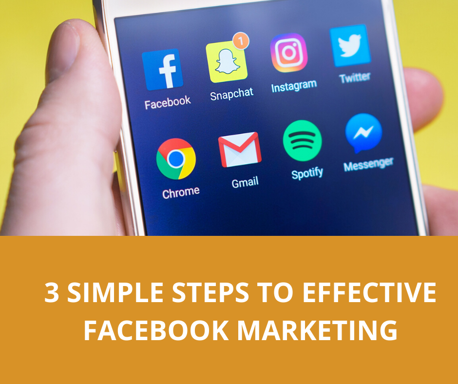 3 Simple Steps to Effective Facebook Marketing.
