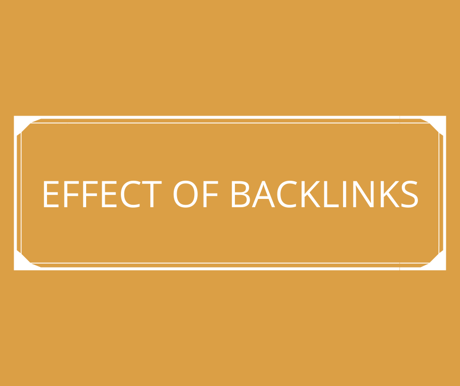 effects of backlinks