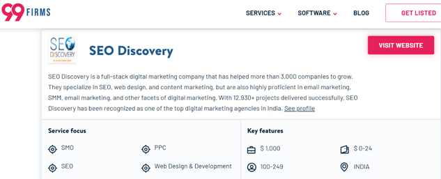 99 Firms - Best SEO agency in india