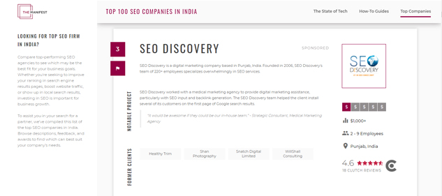 Manifest - Top SEO agency in india